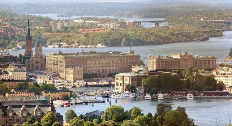 La Vieille Ville De Stockholm En Suede